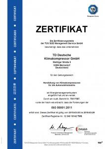 TDDK - certificates - ISO 50001