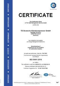TDDK - Certifications - ISO 50001