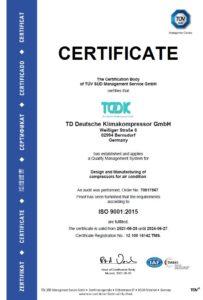 TDDK - Certificates- ISO 9001