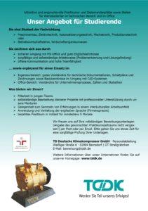 TDDK - Stellenausschreibung - Unser Angebot für Studierende