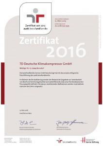 TDDK - Zertifikate - berufundfamilie 2016