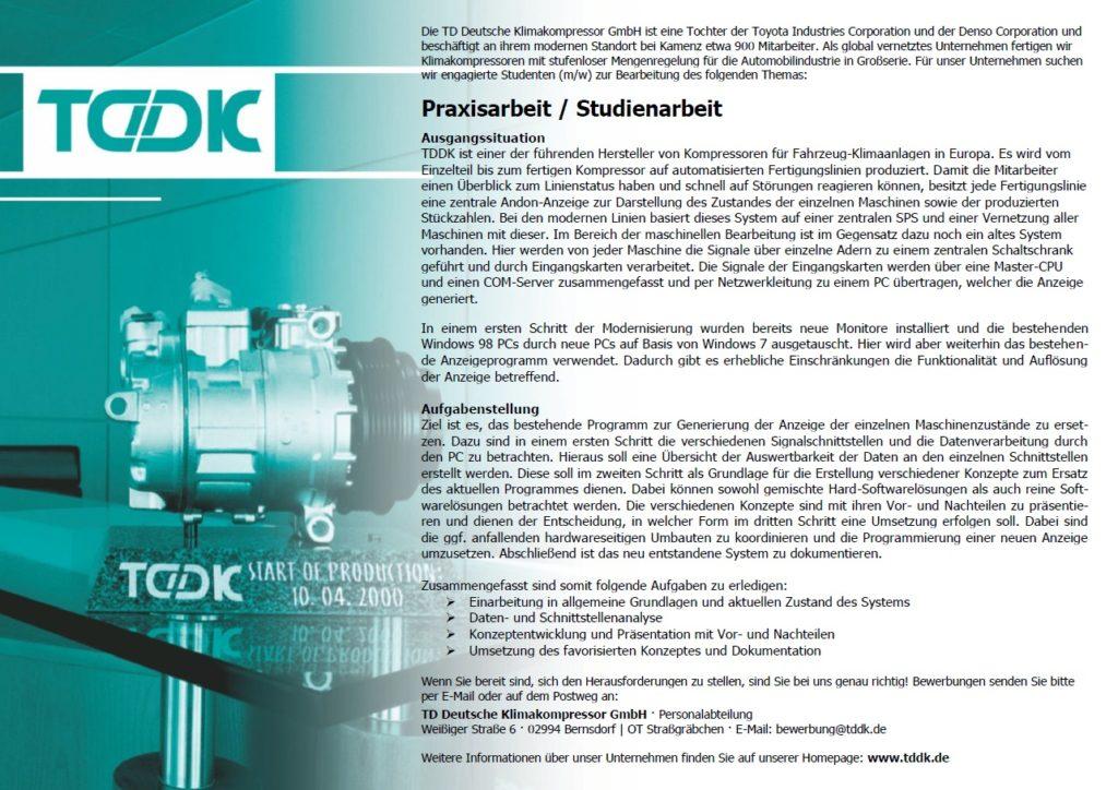TDDK - Studienarbeit - Andon