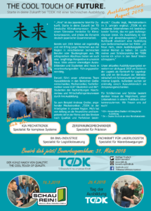 TDDK - The cool touch of future - technische Ausbildung bei TDDK