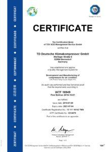 TDDK - Zertifikat - IATF 16949