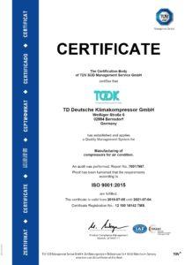 TDDK - Zertifikat - ISO 9001
