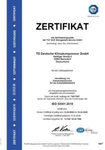 TDDK - Zertifikate - ISO 50001