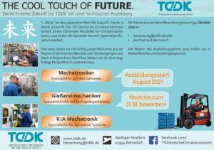 TDDK - Studium & Ausbildung - Ausbildungsplätze 2021