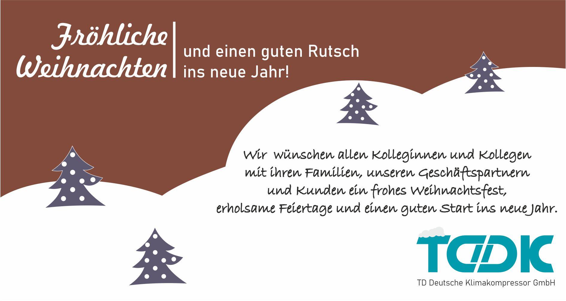 TDDK - Beiträge - Frohe Weihnachten 2020
