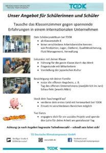 TDDK - Studium & Ausbildung - The cool touch of future - Angebote für Schülerinnen und Schüler
