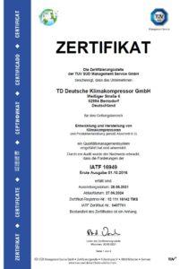 TDDK - Zertifikate - IATF 16949