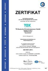 TDDK - Zertifikate - ISO 9001